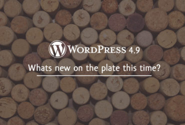 WordPress 4.9 – Whats new on the plate this time?